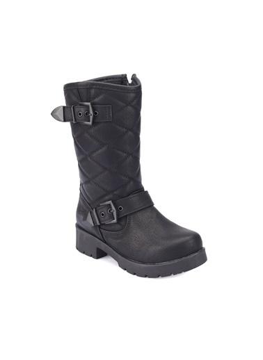 Kinetix Kalın Topuklu Çizme Siyah